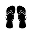 beach flip flops black white flat isolated vector image vector image