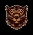 bear head design element for logo label sign vector image vector image