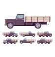 black empty truck vector image vector image