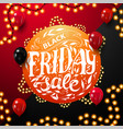 black friday sale round orange discount coupon vector image