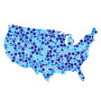 blue dotted usa map composition vector image
