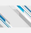 blue grey geometric minimal tech background vector image vector image