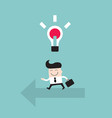 businessman goes to the bright idea business vector image