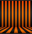 cartoon frame black and orange background vector image vector image