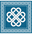 Celtic love knotirish symbol of good fortune vector image vector image