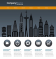 City web site design template vector image vector image