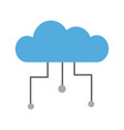 cloud computing isolated icon vector image vector image