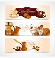 Coffee banners horizontal vector image vector image