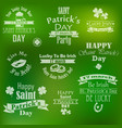 collection saint patricks day banners vector image vector image