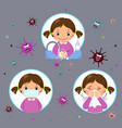 covid-19 concept with a little girl vector image