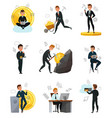 cryptocurrency bitcoin set vector image vector image
