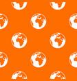 earth globe pattern seamless vector image vector image