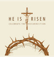 easter banner with crown thorns and crucifixion vector image vector image