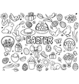 easter elements line art style vector image