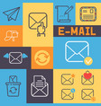 email outline icons banner vector image vector image