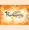 festive thanksgiving day background vector image
