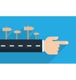 Finger pointing direction vector image