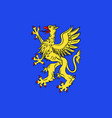 flag of saint-brieuc in cotes-darmor of brittany vector image vector image