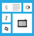 flat parts set of cambelt conrod heater and vector image vector image