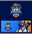 gaming logo design vector image vector image