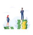 gender gap man and woman standing vector image