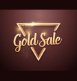 gold sale lettering with glitter effect vector image vector image