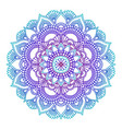 gradient mandala circle ethnic ornament hand vector image vector image