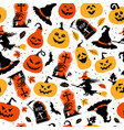 halloween color festive seamless pattern vector image