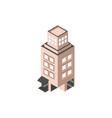 hotel commercial building isometric style vector image