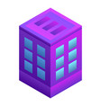 intelligent city building icon isometric style vector image vector image