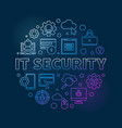 it security round concept linear colored vector image