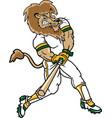 lion sports logo mascot baseball vector image vector image
