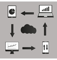 Mobile devices computer and business icons set vector image vector image