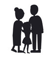 mother father and dauhgter family banner vector image vector image