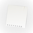 Old paper sheet isolated on transparent background vector image vector image
