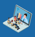 online education or business training isometric vector image vector image