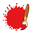 paint brush with blank drop sign vector image vector image