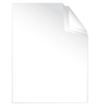 peaces of white paper vector image vector image