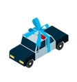 police car toy icon isometric vector image vector image