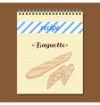 Recipe Book Baguette vector image vector image