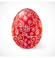 Red ornate traditional Easter egg vector image vector image
