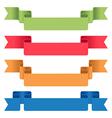ribbon tag set vector image