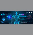 sci-fi healthcare examination hud style full scan vector image vector image