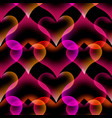 seamless pattern heart abstract liquid lava lamp vector image vector image