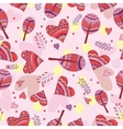 Seamless pattern of drawing doodle hearts vector image vector image