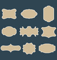 set of blank vintage frames vector image