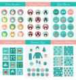 Set of design elements for Christmas and New Year vector image vector image