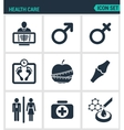 Set of modern icons Health Care rengen vector image