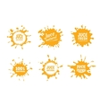set of Yellow juice or honey vector image vector image