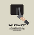 Skeleton Key In Hand vector image